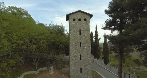 Nekresi Monastery On Top Of Mountain Live Action