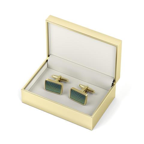 Golden box with cufflinks Photo