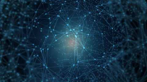 Polygonal Network Shape Dynamic Gradients 4K Live Action