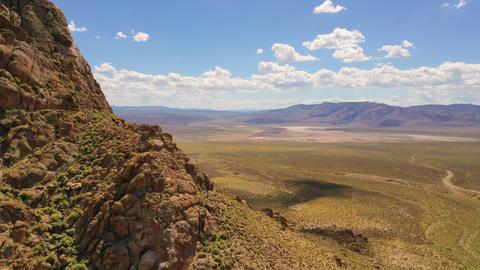Aerial hyper-lapse of a desert landscape Live Action