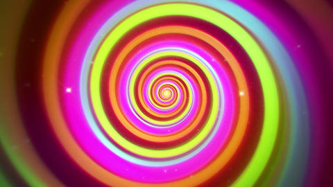 Colorful Hypnotic Spiral VJ Loop Motion Graphic Background Animation