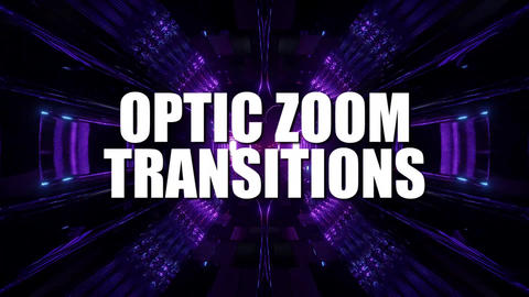 Optic Zoom Transitions After Effects Template