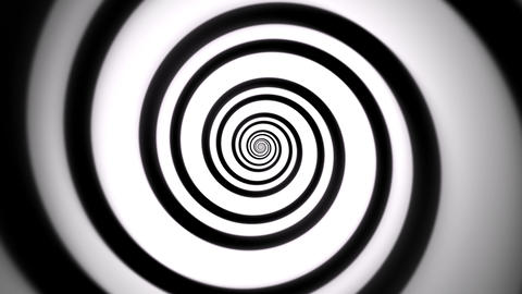 BW Hypnotic Spiral VJ Loop Motion Graphic Background Animation