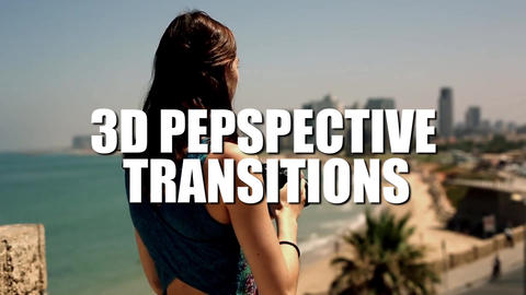 3D Perspective Transitions Premiere Pro Template