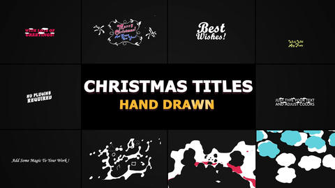 Christmas Titles And Transitions Apple Motion Template