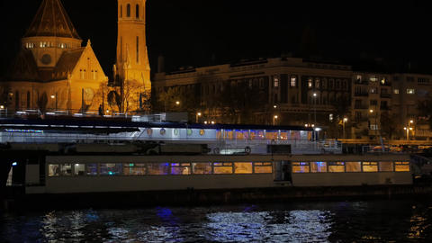 Pleasure Boat At Night Live Action