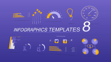 Infographics Templates 8 After Effects Template