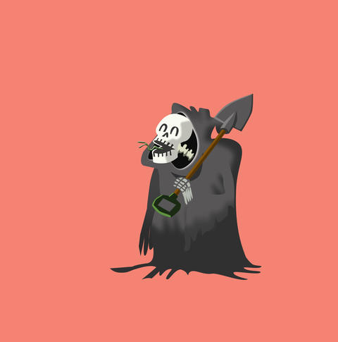Grimm Reaper laughing Animation