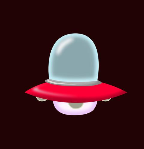 Retro 50's flying saucer Animation