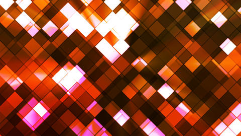 Broadcast Twinkling Squared Diamonds, Orange, Abstract, Loopable, 4K Animation