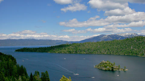 Time Lapse Of The Clouds Over Lake Tahoe Footage