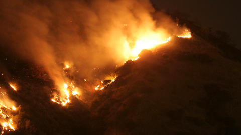 Hollywood Wild Fire Time Lapse Footage