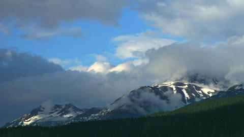 Clouds Over The Mountains Time Lapse Footage