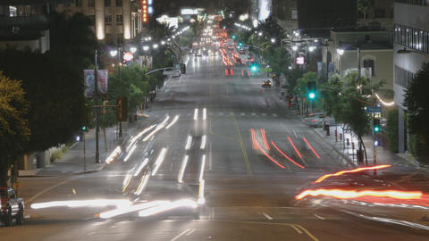 Hollywood Traffic Time Lapse Footage