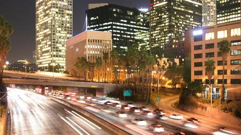 Looping Los Angeles Traffic Time Lapse Footage