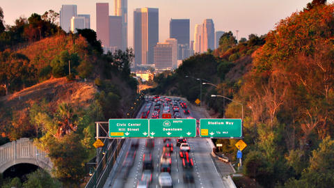 Freeway Traffic Heading To Los Angeles Footage
