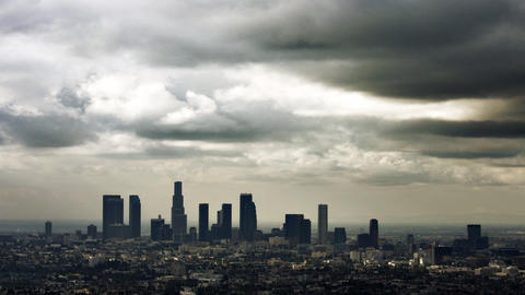 Ominous Clouds Over Los Angeles Footage