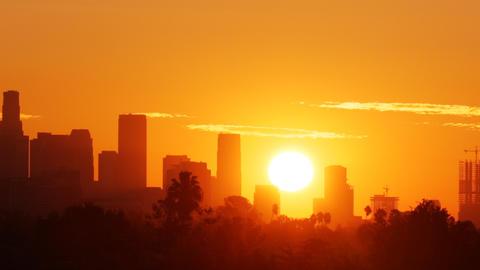 Los Angeles Sunrise Time Lapse Footage