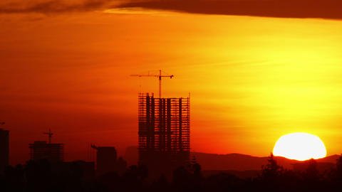 Construction Sunrise Time Lapse Footage