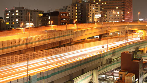 Elevated Road Time Lapse Tokyo Japan Footage