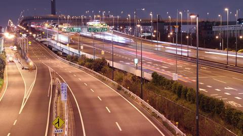 Tokyo Traffic Freeway Time Lapse Footage