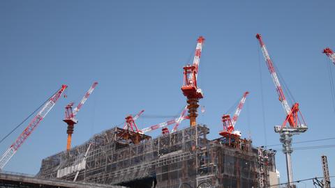 Construction Cranes Time Lapse Footage