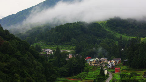Japanese Mountain Village Time Lapse Footage
