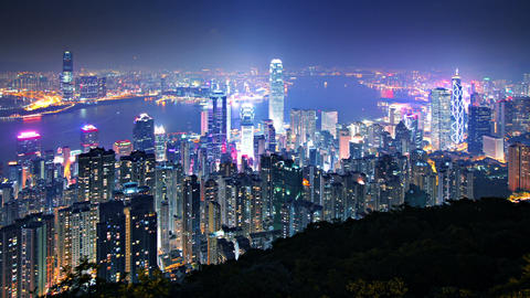 Hong Kong Skyline Time Lapse Footage