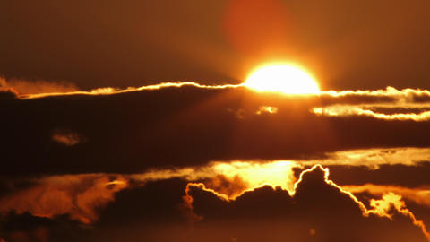 Cloudy Sunrise Time Lapse Footage