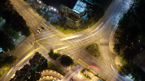 Time Lapse Traffic In A Busy Intersection Footage