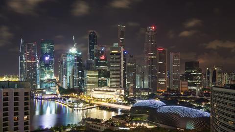 Singapore Skyline Time Lapse Footage