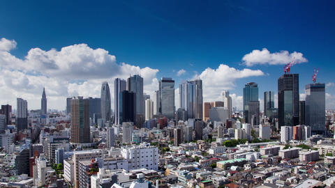 Clouds Over The Shinjuku Skyline Footage