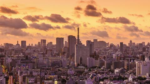 Dawn Time Lapse Tokyo Japan Footage