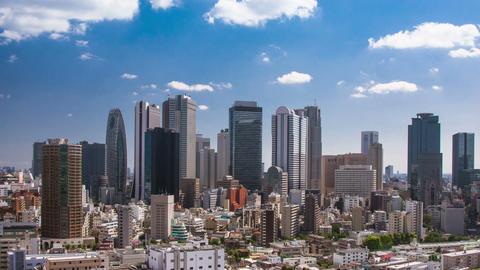 Clouds Over Shinjuku Time Lapse Footage