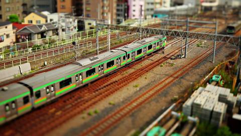 Trains in Tokyo Japan Footage