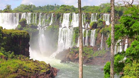 Iguazu Falls In Argentina Footage