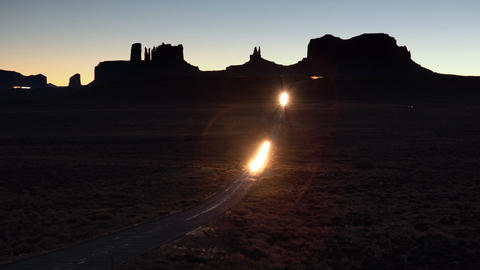 Monument Valley Road Time Lapse Footage