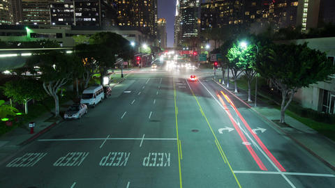 Los Angeles Night Time Lapse Traffic Footage