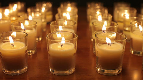 Votive Candles Background Footage