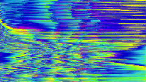 Software generated glitched footage, holographic system error video fx Live Action
