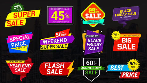 Sale Labels & Badges 7 After Effects Template