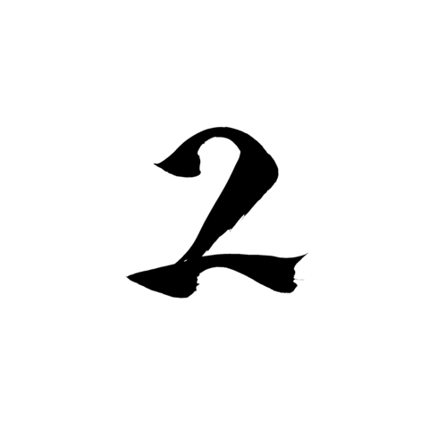 "Calligraphy writing ""2"" alphanumeric character Live Action"