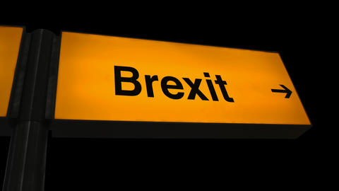 Broken Airport Brexit Sign Animation