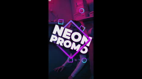 Neon Stories Promo After Effects Template