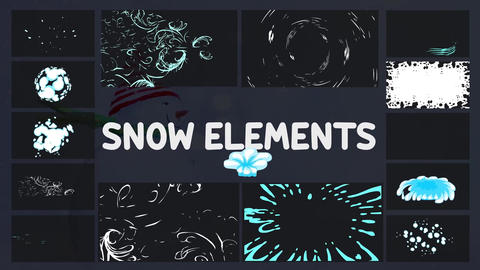 Cartoon Holiday Elements Motion Graphics Template