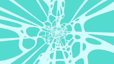 Pale Blue Wave On Mint Blue Background Animation