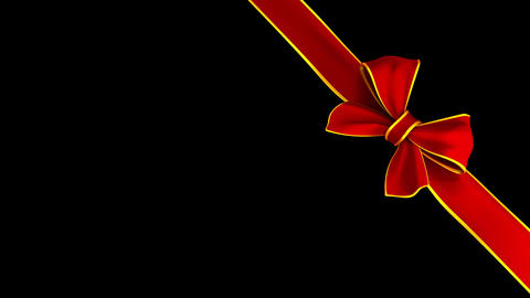 Ribbon Tying A Bow Across The Screen in 4K Animation