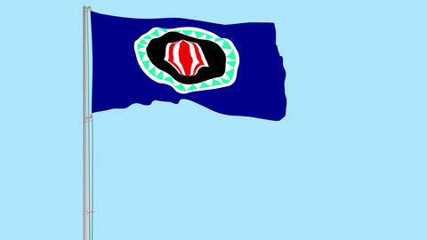 Flag of Bougainville on transparent background, 4k prores 4444 footage with Animation