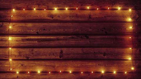 Garland on Wood plank Frame - Warm Color Animation