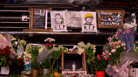 rest in peace memorial for two victims add childhood age - LONDON, ENGLAND - Live Action